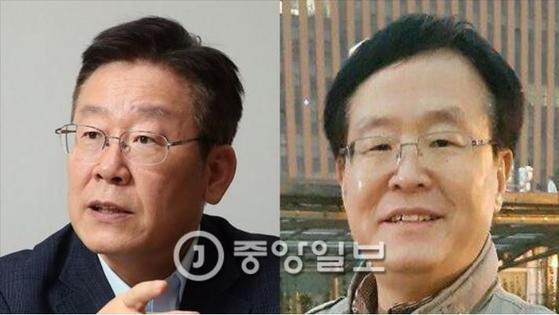 이재명 경기지사(사진 왼쪽)는 친형인 이재선씨(2017년 사망)의 정신병원 강제입원 시도 의혹 등으로 조사를 받고 있다 [중앙포토]