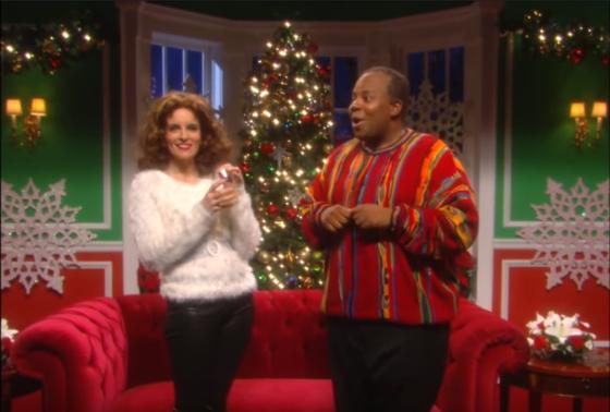 '베이비 잇츠 콜드 아웃사이드'의 내용을 풍자한 SNL의 한 장면. [사진 유튜브 캡처]