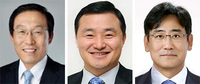 김기남, 노태문, 김명수(왼쪽부터).