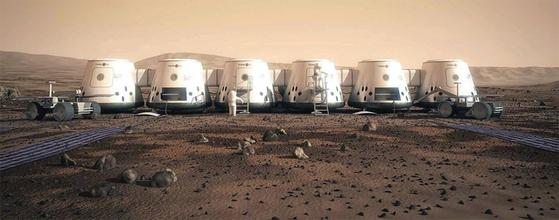 '마르스 원'에서 공개한 화성 정착촌의 상상도. / 사진:연합뉴스