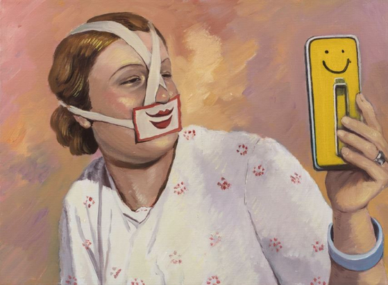 SMILE, oil on canvas, 30x40cm, 2017