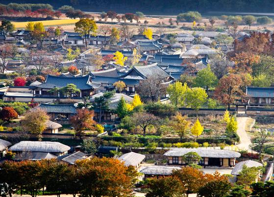 관광객들이 즐겨찾는 안동 하회마을. [사진 안동시]