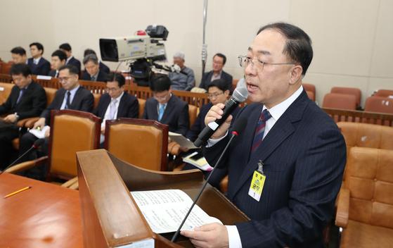 홍남기 부총리 겸 기획재정부 장관 후보자 [사진 연합뉴스]