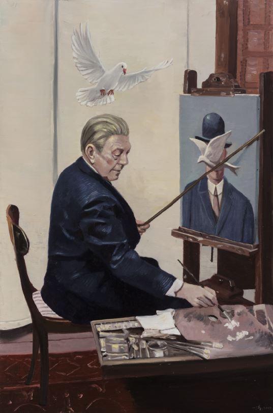 Pigeon, oil on canvas, 90 x 60 cm, 2017
