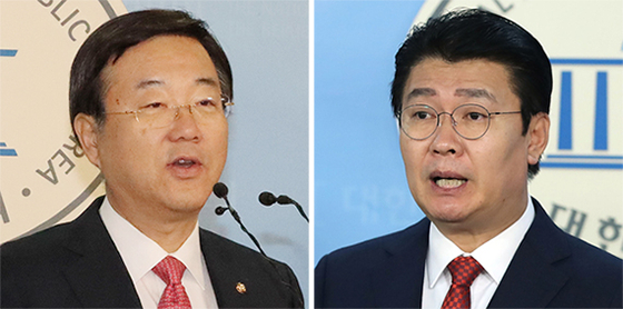 김종석(左), 정용기(右). [연합뉴스]