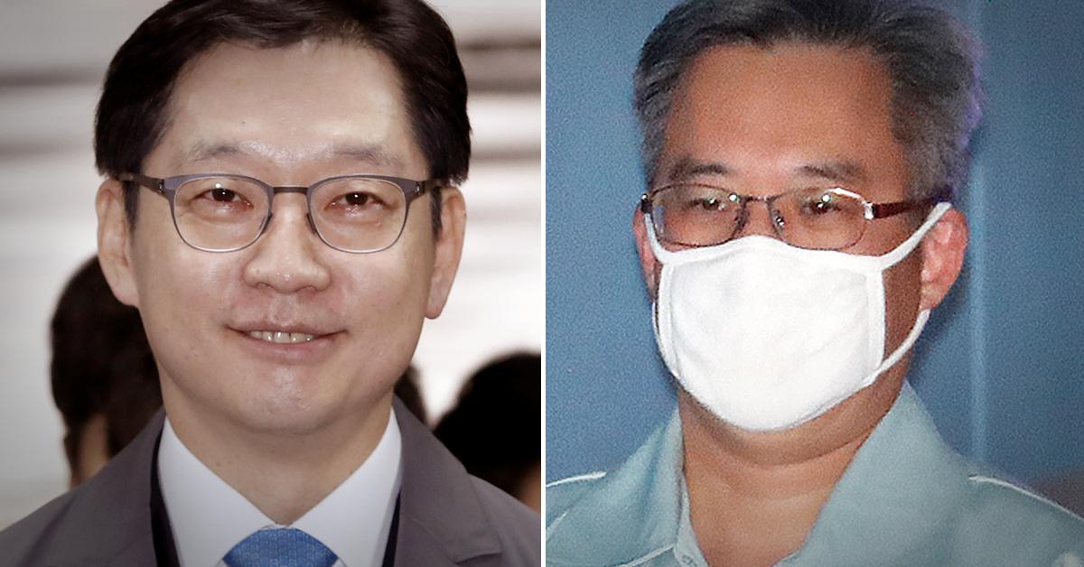 김경수 경남지사(왼쪽)와 '드루킹' 김동원씨. [뉴스1]