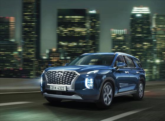 현대차의 플래그십 대형 SUV 팰리세이드. 11일 공식 판매에 돌입했다. [사진 현대차]