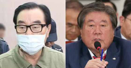 최규호 전 전북교육감(왼쪽)과 최규성 전 농어촌공사 사장(오른쪽). [연합뉴스, 뉴스1]