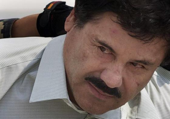 첫 번째 탈옥 이후 2014년 2월 다시 체포됐을 때의 '엘 차포' 구스만. [AP=연합뉴스]