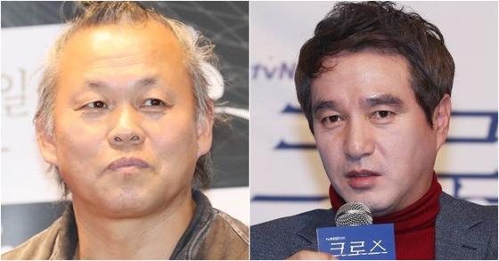 김기덕 영화감독과 배우 조재현. [사진 일간스포츠]