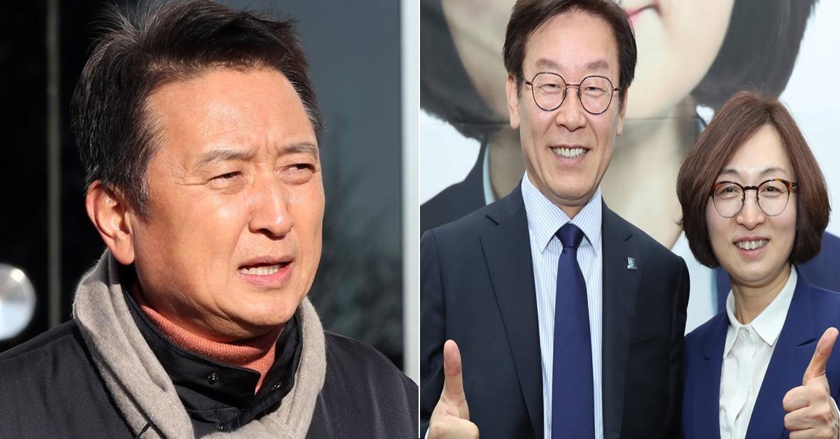 김영환 전 바른미래당 경기지사 후보(왼쪽)과 이재명 경기지사(가운데), 은수미 성남시장(오른쪽) [연합뉴스]