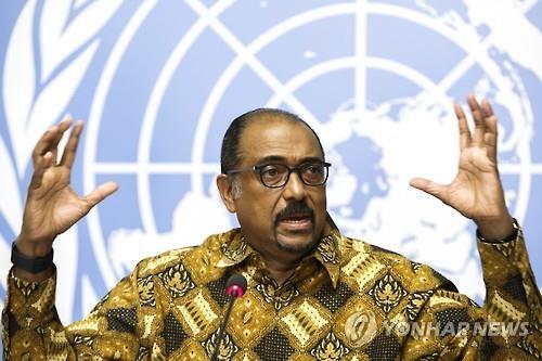 미셸 시디베 UNAIDS 사무총장 [EPA=연합뉴스]