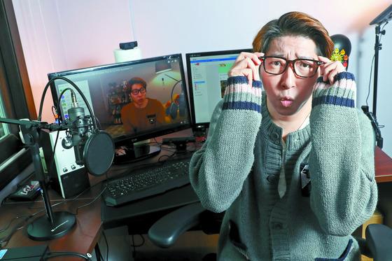 인터넷 방송 진행자로 유명한 BJ(Broadcasting Jockey) 대도서관(본명 나동현·39) [중앙포토]