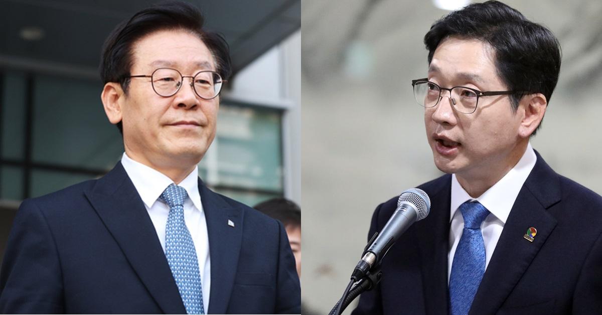 이재명 경기지사(왼쪽)와 김경수 경남지사. [연합뉴스·뉴스1]