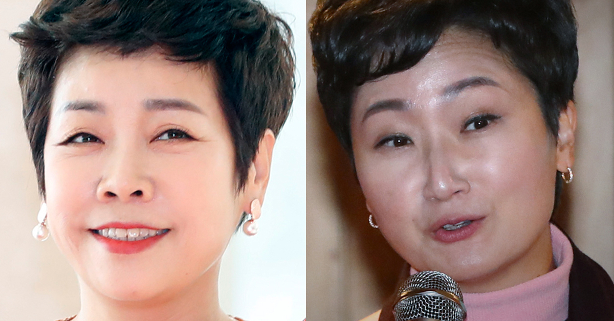 방송인 김미화씨(왼쪽)과 이언주 바른미래당 의원(오른쪽) [뉴스1]