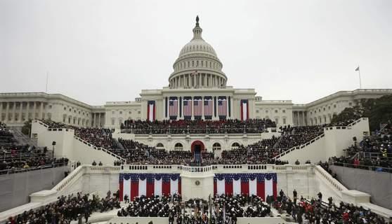 미국의 대통령 취임식 장면