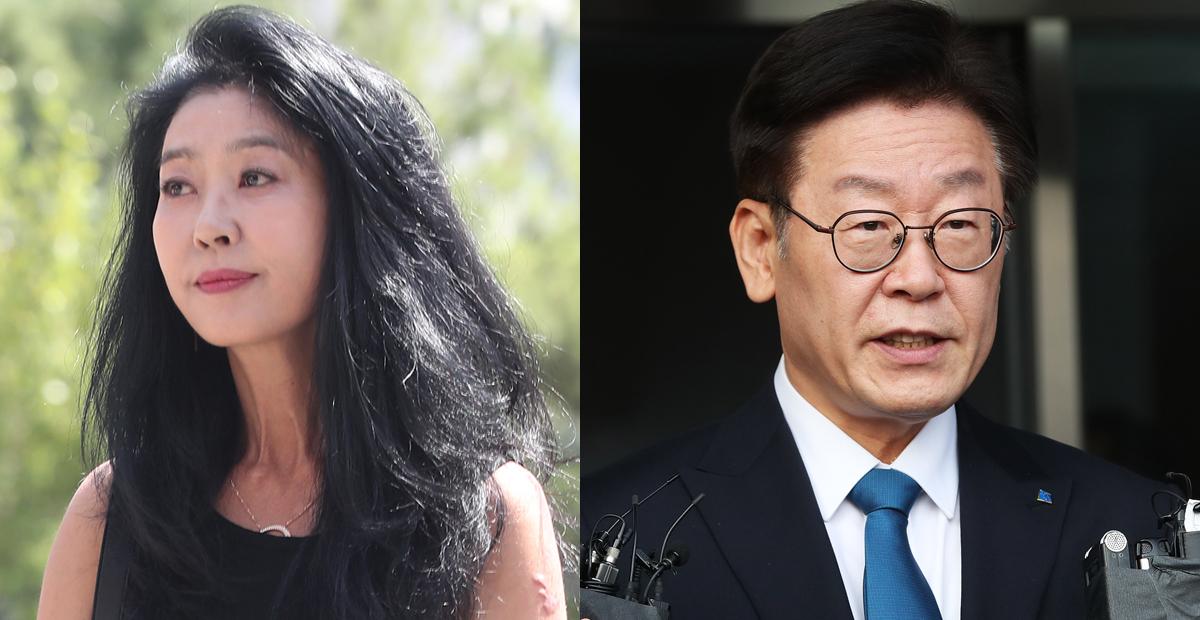 배우 김부선과 이재명 경기지사. [일간스포츠, 연합뉴스]