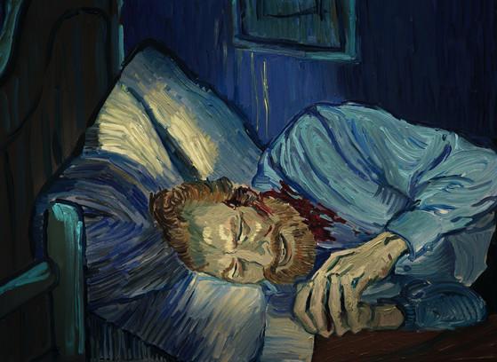 유화 애니메이션 러빙빈센트의 한 장면. 지금은 모두 완전히 예술가로서 세계인들에게 사랑을 받는 르누아르, 고흐 같은 인상파 화가의 작품이 당시 파리 화단에서는 발을 붙이기가 힘들었다. [중앙포토]