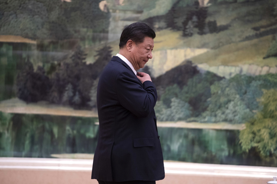 지난 7일 중국 베이징 인민대회당에 있는 시진핑 중국 국가주석. [AP=연합뉴스]