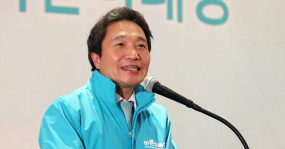 이학재 바른미래당 의원이 지난 6월 서울 여의도 중소기업중앙회관에서 열린 전국 지역위원장 전체회의에서 인사말을 하고 있다