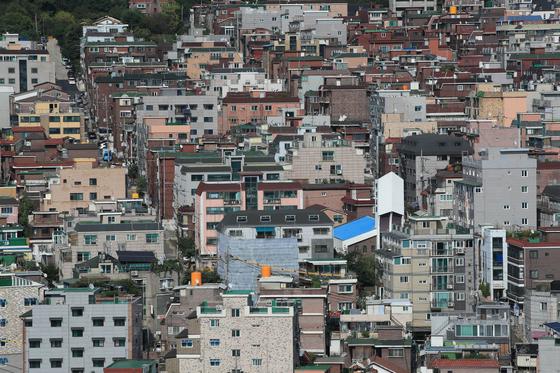 올해 지정된 도시재생 뉴딜사업지 중 '주거지지원형'으로 선정된 서울 금천구 난곡동 일대 [연합뉴스]