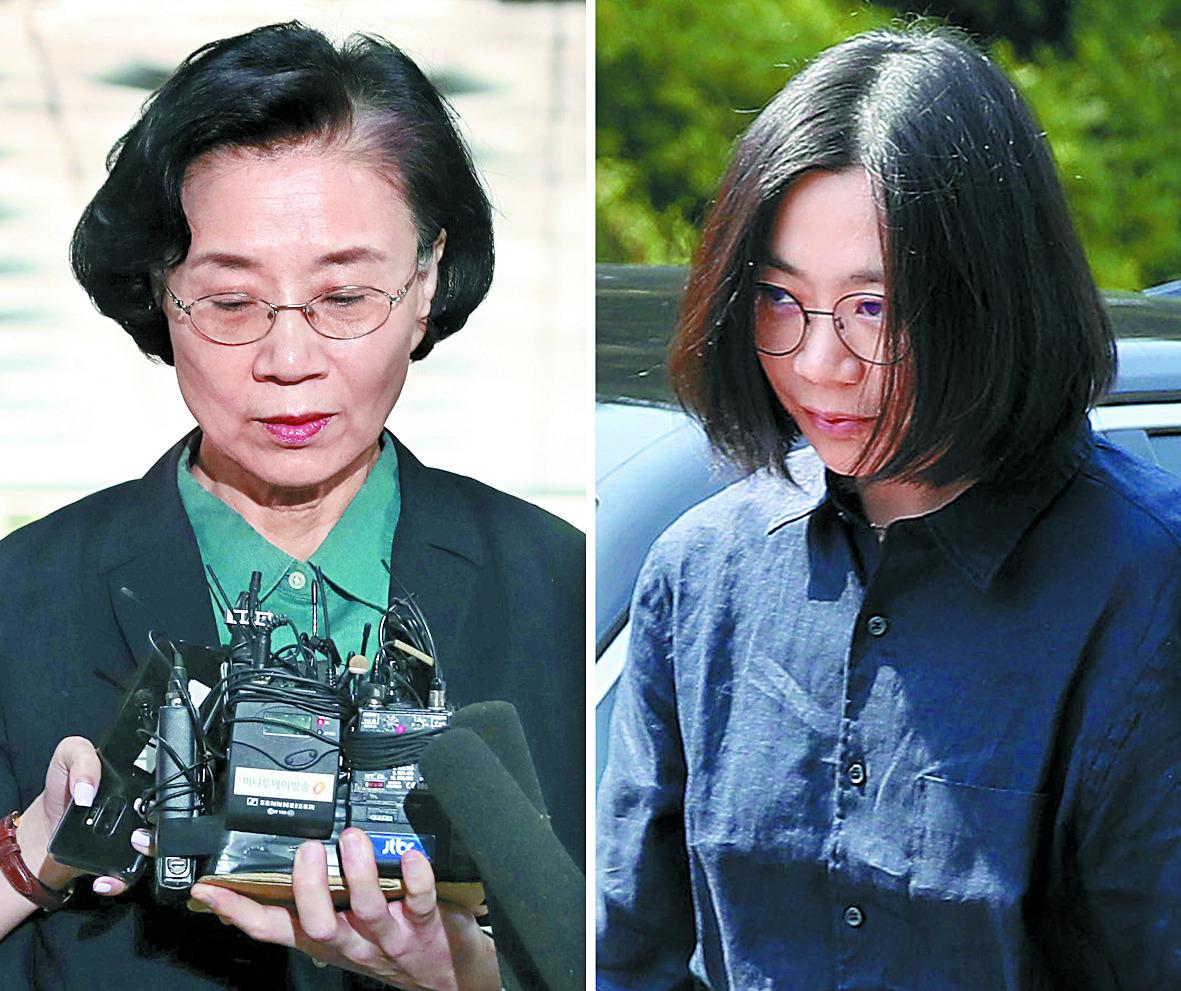 한진그룹 조양호 회장의 부인 이명희(69)씨와 첫째 딸 조현아(44) 대한항공 전 부사장. [연합뉴스]