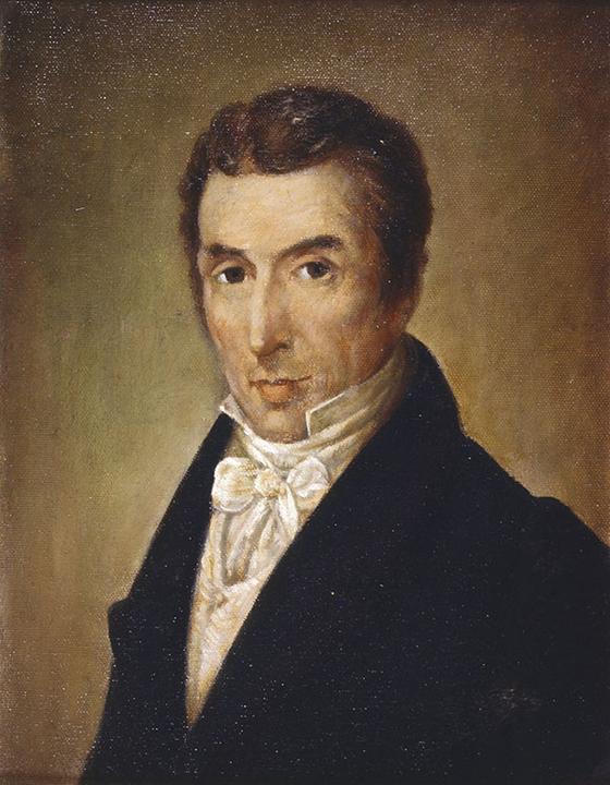 미코와이 쇼팽. 쇼팽의 아버지. 지금은 유실된 암브로지 미에로셰프스키(Ambrozy Mieroszewski)의 1829년 스케치를 토대로 얀 자모이스키(Jan Zamoyski)가 그린 유화. 국립 쇼팽연구소 Narodowy Instytut Fryderyka Chopina 소장. [사진 송동섭]