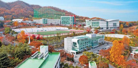 용인대는 예체능 특성화대학으로 무도·체육·문화예술 분야 외에도 보건복지, 환경 및 경영관련 학과가 있다. [사진 용인대]
