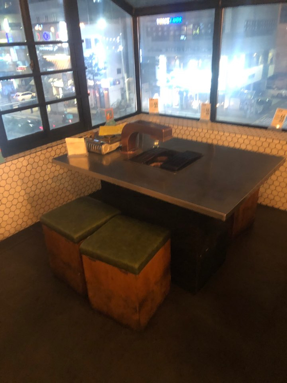 The table where Jungkook and Jimin sat on the third floor. Photo by VoomVoom