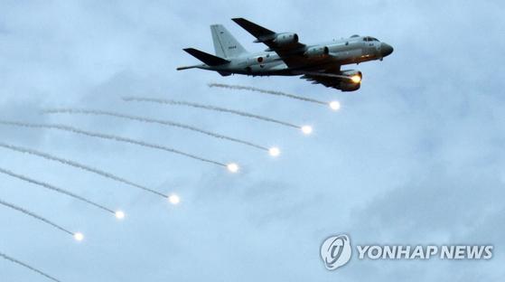 일본 해상자위대 P-1 초계기. [연합뉴스]