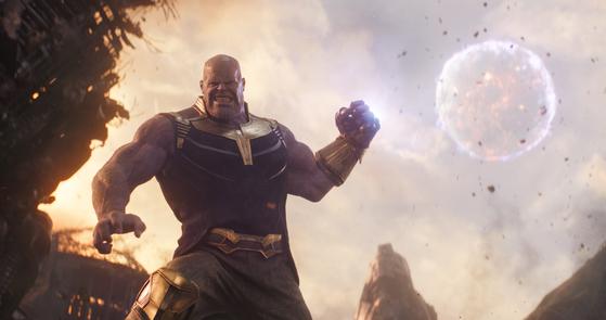 '어벤져스:인피니티 워'. 시리즈 2편에 이어 이 3편도 1000만 영화가 됐다. [사진 월트디즈니컴퍼니코리아]