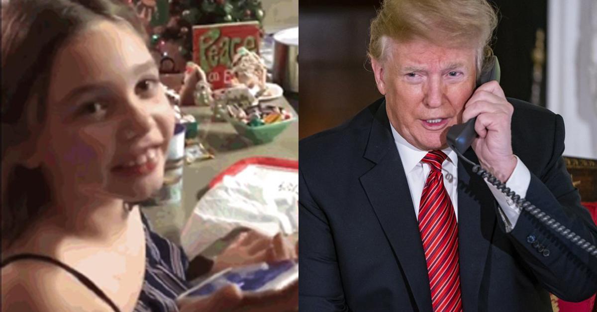 도널드 트럼프 미국 대통령과 산타에 관해 통화한 7살 콜먼 로이드(왼쪽)과 산타 위치 알려주는 트럼프(오른쪽) [더 포스트 앤드 쿠리어 홈페이지, EPA=연합뉴스]