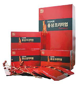 '건강미학 홍삼프리미엄'은 엄격한 심사를 거친 100% 국내산 홍삼을 사용한다.