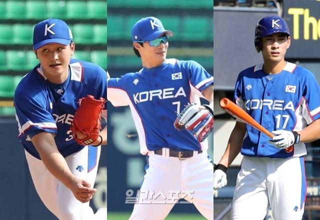 서건창이 추천한 최원태(왼쪽부터), 김하성, 이정후 모두 국가대표에 선발됐다.