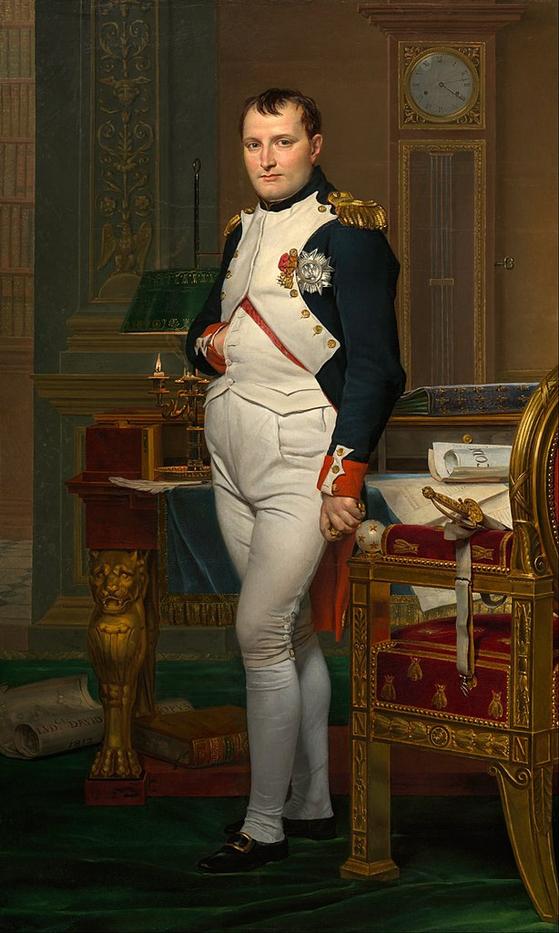 서재의 나폴레옹(1812), 자크 루이 다비드(Jacques Louis David) 그림, 위싱턴의 National Art Gallery 소장. ⓒ공개도메인 [사진 위키피디아]