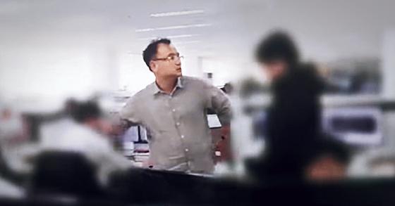 지난 10월 30일 뉴스타파는 양진호 회장이 2015년 4월 경기 성남시 분당구 위디스크 사무실에서 전직 직원을 폭행하는 모습을 담은 영상을 공개했다. [사진 뉴스타파]
