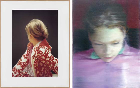 베티(Betty), 1988, Catalogue Raisonne : 663-5, Oil on Canvas(왼쪽), 엘라(Ella), 2007, Catalogue Raisonne : 903-1, Oil on Canvas(오른쪽). ⓒGerhard Richter(저작권 게르하르트 리히터) [사진 게르하르트 리히터 홈페이지]