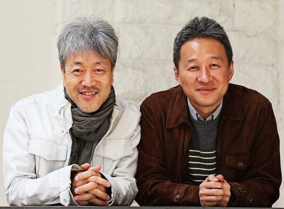 데뷔 25주년 당시의 '봄여름가을겨울'의 전태관(오른쪽)과 김종진. [연합뉴스]