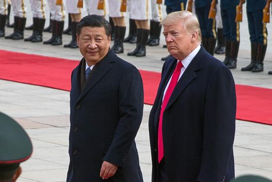 시진핑 중국 국가주석과 도널드 트럼프 미 대통령 (2017년 베이징) [EPA]