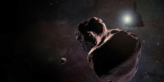 태양계 끝 카이퍼 벨트의 소행성 울티마 툴레의 가상 이미지. 명왕성에서도 16억km나 더 떨어져 있다. [EPA/NASA=연합뉴스]