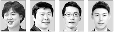 김은미, 박창운, 허혁재, 엄기현(왼쪽부터).