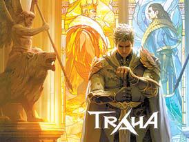 넥슨이 내년 상반기 출시할 예정인 신규 IP 대형 모바일 신작 '트라하'의 포스터.