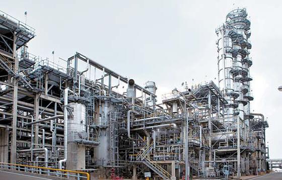 GS칼텍스는 연간 280만t의 방향족 생산능력을 갖고 있다. 사진은 방향족 생산시설.