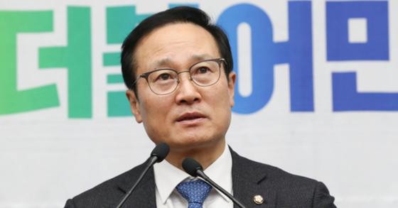 더불어민주당 홍영표 원내대표. 임현동 기자