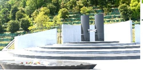 묘지관리조합이 관리하는 한 합장묘지. [이이모리공원묘원조합 홈페이지]