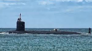 미 해군의 버지니아급 핵추진잠수함 텍사스함(텍사스함(SSN 775). 지난해 1월 텍사스함이 부산항에 입항하려다 한국 측의 난색 때문에 일본 사세보항으로 함수를 돌린 적 있다. [사진 유튜브 캡처]