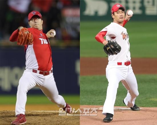 다가오는 2019시즌, 리그를 대표하는 좌완 KIA 양현종(왼쪽)과 SK 김광현의 경쟁이 본격화될 전망이다.