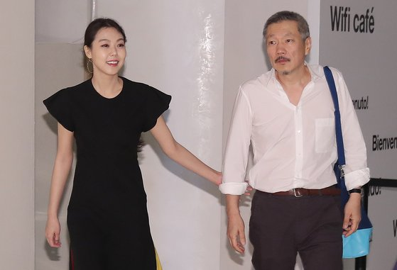 배우 김민희와 홍상수 감독. [일간스포츠]