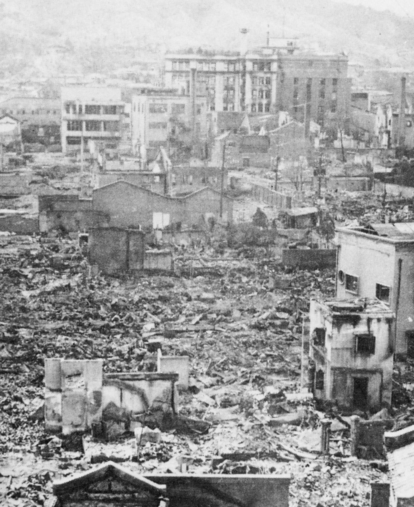한국전쟁으로 폐허가 된 서울시가지 모습 [중앙포토, 도서 한국전쟁]