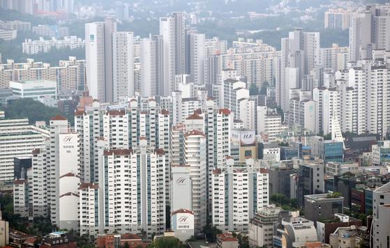 서울 강남구 개포동 일대의 아파트 단지 모습.[연합뉴스]
